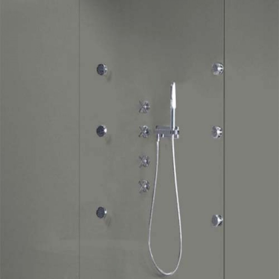 Grey Pearl Shower Wall Panels Kit 1000mm X 2 4m X 10mm 2