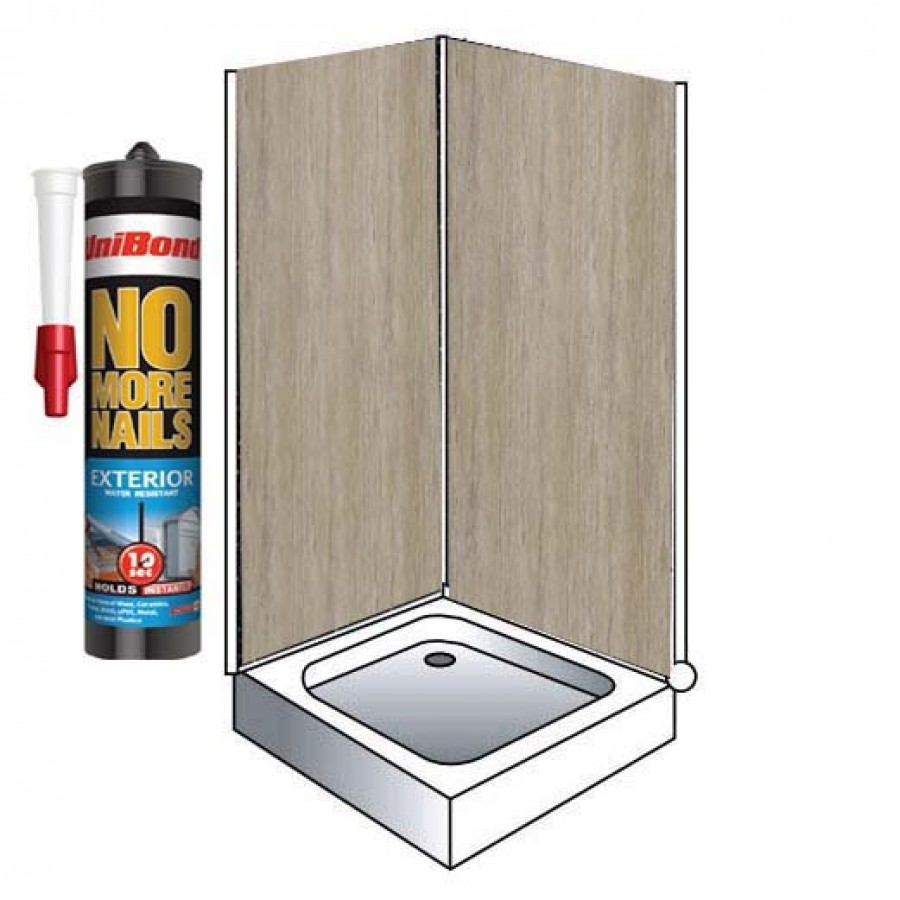 travertine gloss shower wall panels kit 1000mm x 24m x