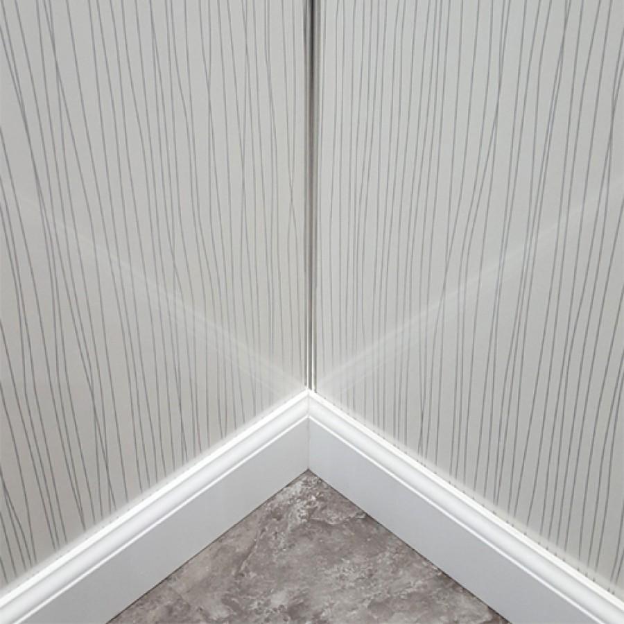 White String Shower Wall Panels Kit 1000mm X 2 4m X 10mm 2